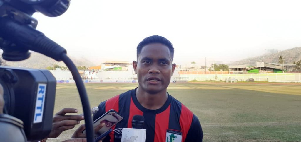 Silveiro Garcia (27), Jogador AS. Ponta Leste. Foto Abilio Gonçalves.